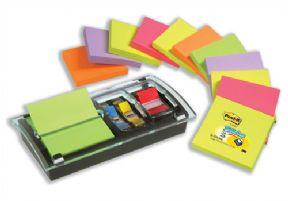 Post-it Note Value Pack 3x3 Ref DS100-VP [Pack 12 and Free Dispenser]